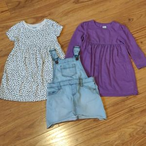 EUC budle of 3 toddler dresses